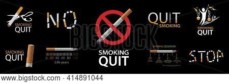 Vector Logo, Illustration Call To Quit Smoking