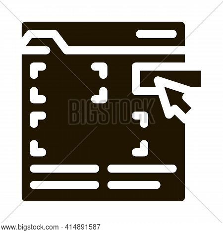 Editing Web Site Glyph Icon Vector. Editing Web Site Sign. Isolated Symbol Illustration
