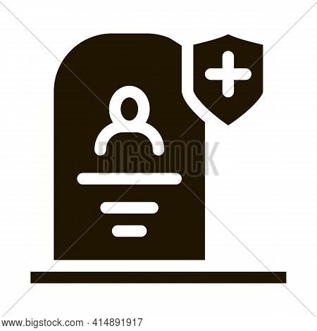 Death Insurance Glyph Icon Vector. Death Insurance Sign. Isolated Symbol Illustration