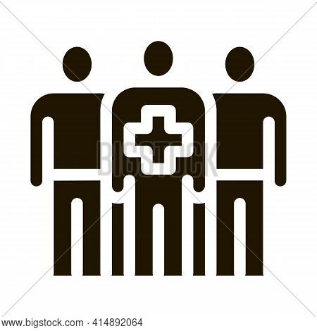 Medical Staff Glyph Icon Vector. Medical Staff Sign. Isolated Symbol Illustration