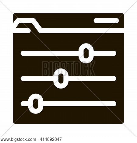 Color Rgb Setting Glyph Icon Vector. Color Rgb Setting Sign. Isolated Symbol Illustration