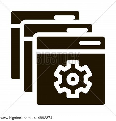 Web Site Settings Glyph Icon Vector. Web Site Settings Sign. Isolated Symbol Illustration