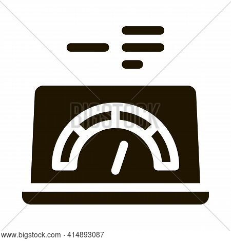 High Speed Load Web Site Glyph Icon Vector. High Speed Load Web Site Sign. Isolated Symbol Illustrat