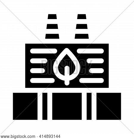 Ecology Clean Factory Glyph Icon Vector. Ecology Clean Factory Sign. Isolated Symbol Illustration