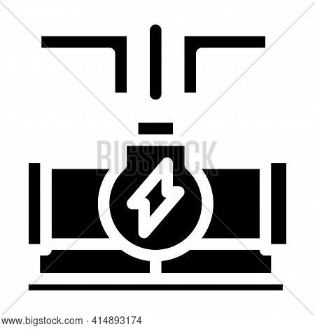 Geothermal Energy Pipe Glyph Icon Vector. Geothermal Energy Pipe Sign. Isolated Symbol Illustration