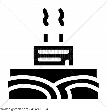 Geothermal Energy Power Plant Glyph Icon Vector. Geothermal Energy Power Plant Sign. Isolated Symbol