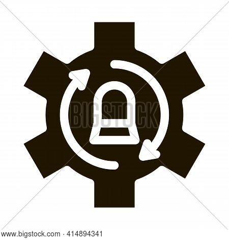 Signalization Code Mistake Working Process Glyph Icon Vector. Signalization Code Mistake Working Pro
