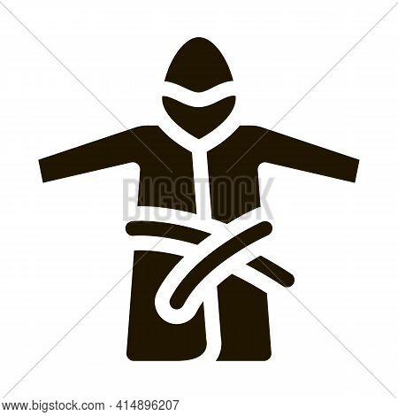 Bathrobe Clothes Glyph Icon Vector. Bathrobe Clothes Sign. Isolated Symbol Illustration