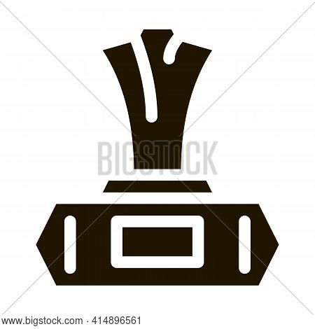 Wet Napkin Package Glyph Icon Vector. Wet Napkin Package Sign. Isolated Symbol Illustration