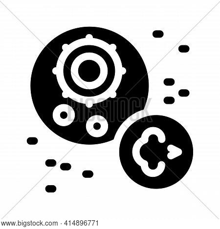 Virus Disease Asthma Glyph Icon Vector. Virus Disease Asthma Sign. Isolated Symbol Illustration