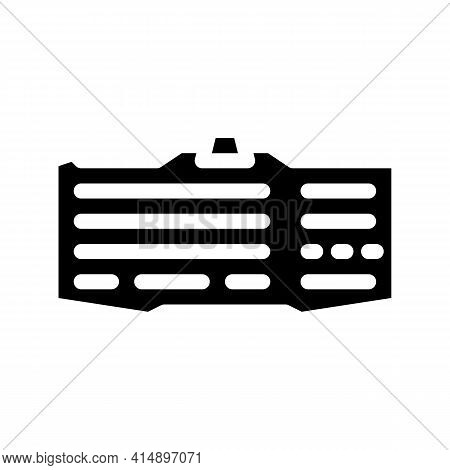 Keyboard Computer Glyph Icon Vector. Keyboard Computer Sign. Isolated Symbol Illustration