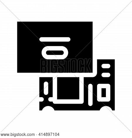 Laptop Mainboard Glyph Icon Vector. Laptop Mainboard Sign. Isolated Symbol Illustration