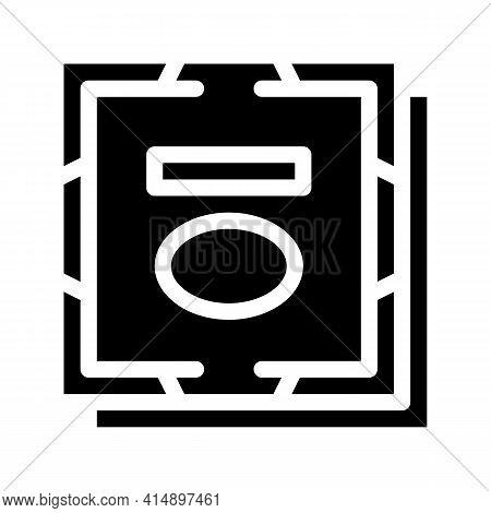 Processor Computer Component Glyph Icon Vector. Processor Computer Component Sign. Isolated Symbol I