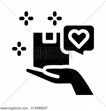 Client Good Deal Glyph Icon Vector. Client Good Deal Sign. Isolated Symbol Illustration
