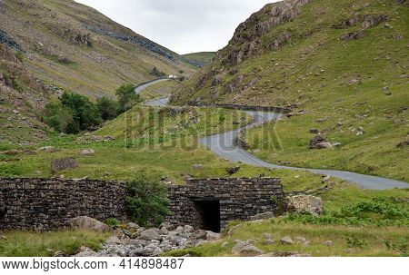 Honister Pass In The Lake District, Is A Mountain Pass Joining Borrowdale To The Buttermere Valley I