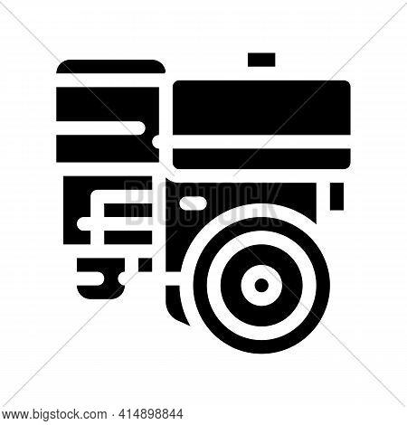 Engine Motor Kart Glyph Icon Vector. Engine Motor Kart Sign. Isolated Symbol Illustration