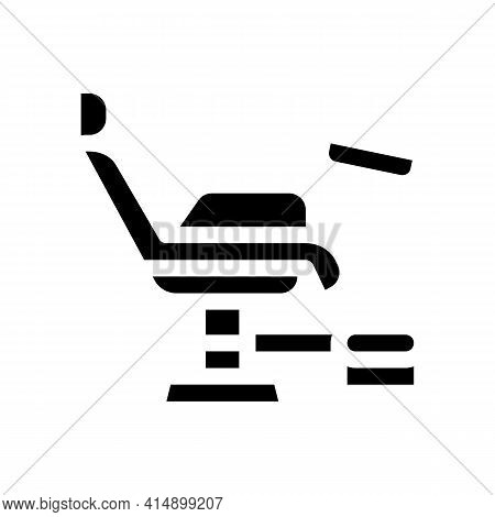 Generic Chair Glyph Icon Vector. Generic Chair Sign. Isolated Symbol Illustration