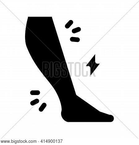 Leg Pain Ill Glyph Icon Vector. Leg Pain Ill Sign. Isolated Symbol Illustration
