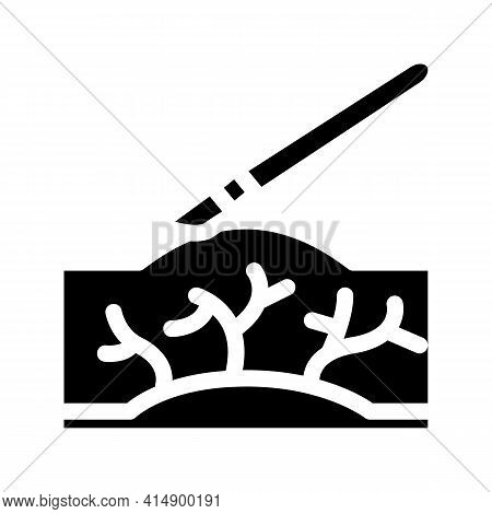 Surgery Treatment Varicose Veins Glyph Icon Vector. Surgery Treatment Varicose Veins Sign. Isolated