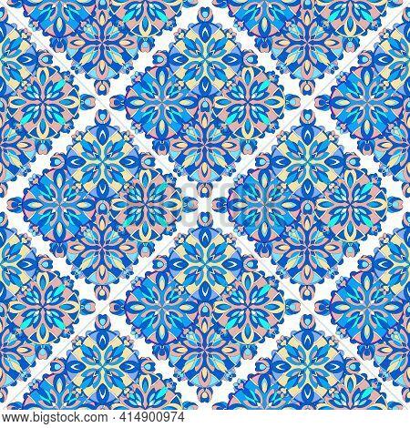 East Meditation Pattern. Outline Hand Drawn Illustration Of East Meditation Vector Pattern For Web D