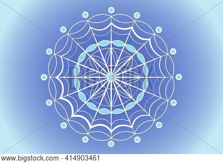 Snowflake Isolated. Vector Illustration. Beautiful White Snowflake With Many Elements And Traceries