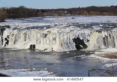 Winter River Falls