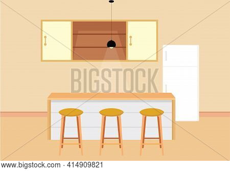 Kitchen. Kitchen Icon Isolated On Brown Background From Interior Design Collection. Kitchen Icon Tre