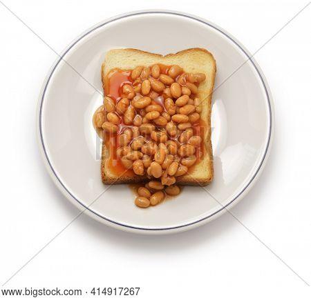 baked beans on toast, english breakfast