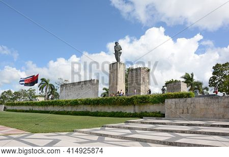 SANTA CLARA, CUBA - JULY 26, 2016: The Che Guevara Mausoleum. Local citizens volunteered over 400,000 hours to help with the construction of the complex.