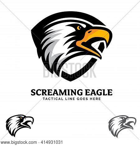 Screaming Eagle Insignia Vector Illustration. A Tactical Emblem Patch Logo