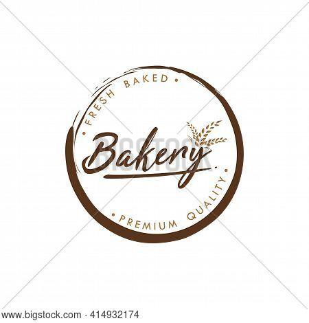 Bakery And Dessert Logo, Simple Bakery Logo, Sign, Flat Vector Design
