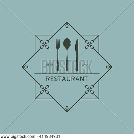 Luxury Cutlery Icon Isolated From Kitchen Collection. Cutlery Icons Trendy And Modern Cutlery Symbol