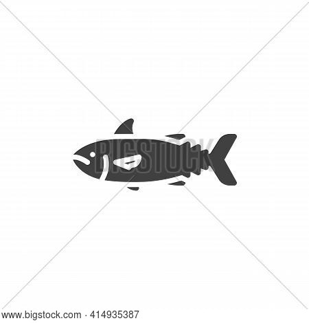 Tuna Fish Vector Icon. Filled Flat Sign For Mobile Concept And Web Design. Fresh Tuna, Seafood Glyph