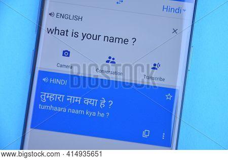 Mandi, Himachal Pradesh, India - 03 05 2021: Translating