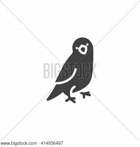 Parrot Pet Vector Icon. Filled Flat Sign For Mobile Concept And Web Design. Parrot Bird Glyph Icon.