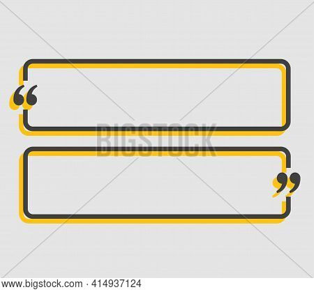 Quote Bubble Text With Bracket, Vector Banner
