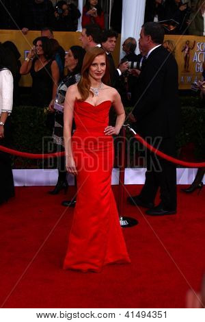 LOS ANGELES - JAN 27:  Jessica Chastain arrives at the 2013 Screen Actor's Guild Awards at the Shrine Auditorium on January 27, 2013 in Los Angeles, CA