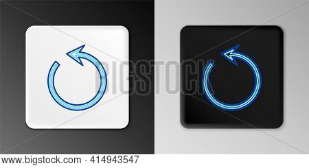 Line Refresh Icon Isolated On Grey Background. Reload Symbol. Rotation Arrow In A Circle Sign. Color