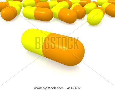 Yellow And Orange Pills