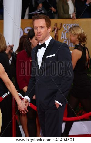 LOS ANGELES - JAN 27:  Damian Lewis arrives at the 2013 Screen Actor's Guild Awards at the Shrine Auditorium on January 27, 2013 in Los Angeles, CA