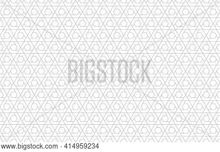 The Geometric Pattern With Lines. Seamless Vector Background. White And Gray Texture. Graphic Modern