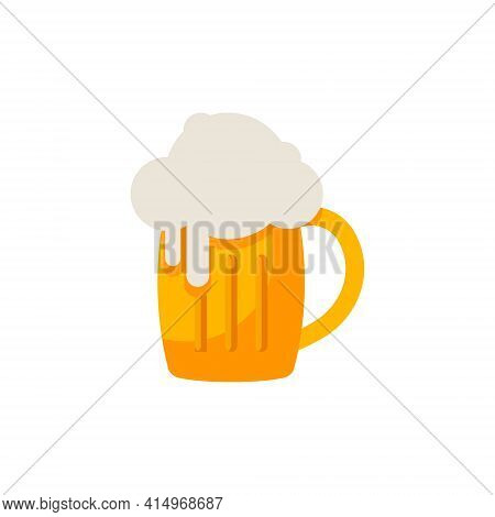 Beer Icon. Vector Beer. Glass With Beer Isolated On A White Background