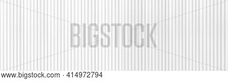 Panorama Of White Corrugated Metal Background And Texture Surface Or Galvanize Steel