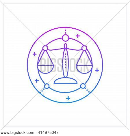 Libra Gradient Icon.seventh Fire Sign In Zodiac. Scales Birth Symbol. Mystic Horoscope Sign. Astrolo