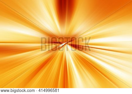 Abstract Surface Blur Of Radial Zoom In Orange, Yellow And White Tones. Abstract Brihgt Background W