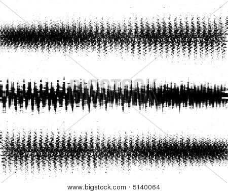 brain waves on a solid white background poster