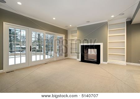 Library In Remodeled Home