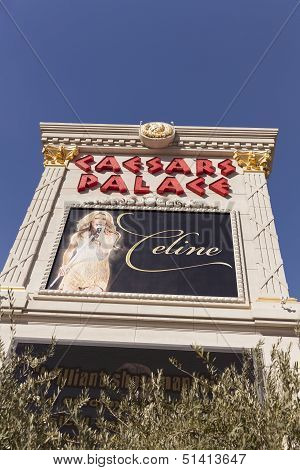 The Caesars Palace Sign In Las Vegas, Nv On February 22, 2013
