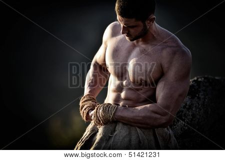athletic young man outdoor