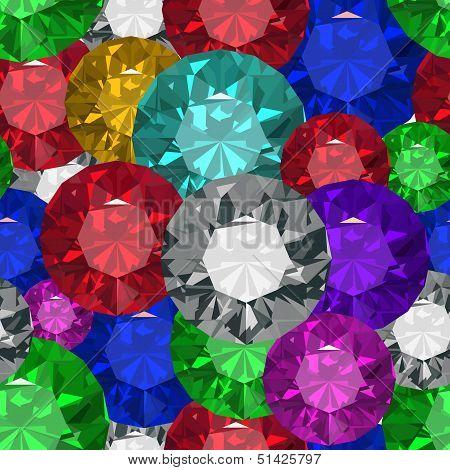Jewels. Seamless texture. Vector illustration. Clip art. poster
